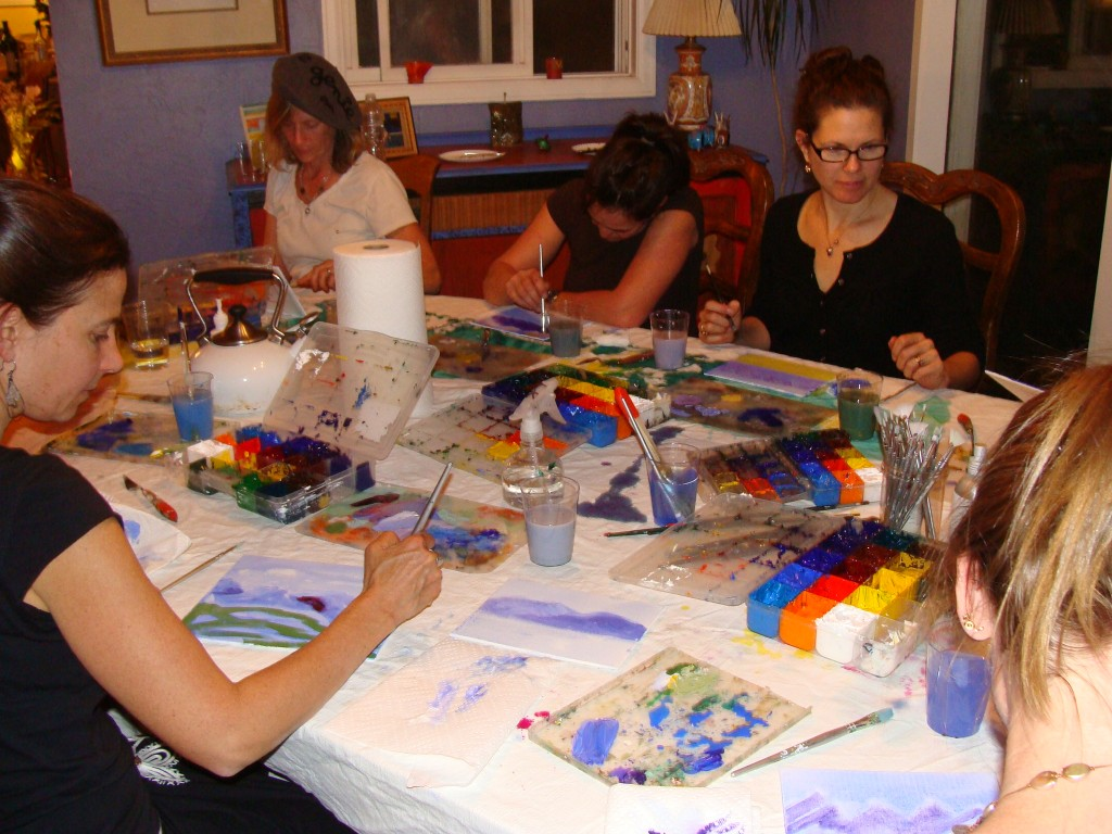 Private painting parties lillian kennedy acrylic art for Private paint party