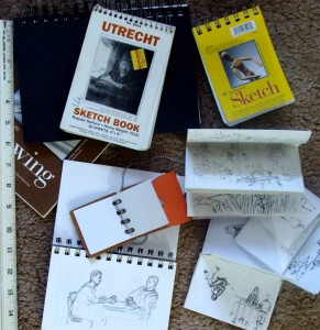 small sizes make portable sketchbooks, Lillian Kennedy, weekly art lesson