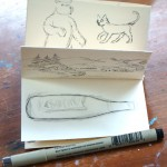 folded pocket sketchbook, Michel Reynolds, Club Tuesday drawing exercises