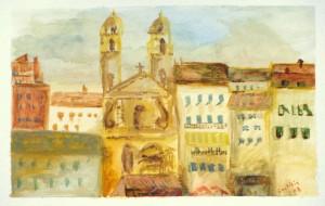 Latitia Balezi - watercolor: Bastia, Corsica