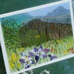 Dina Elder -  hand painted card - Lillian Kennedy acrylic painting class