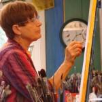 Ann Hayes at work in Lillian's Boulder Studio.