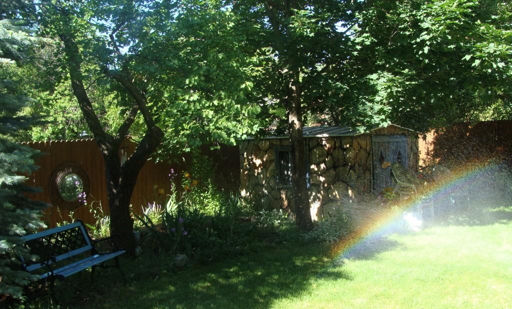 Pot of Gold in the Studio Garden - L Kennedy - Boulder, CO