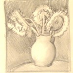 pencil sunflower thumbnail drawing - Lillian Kennedy