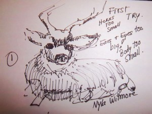 Nyla Witmore in Boulder, CO weekly art lesson buck