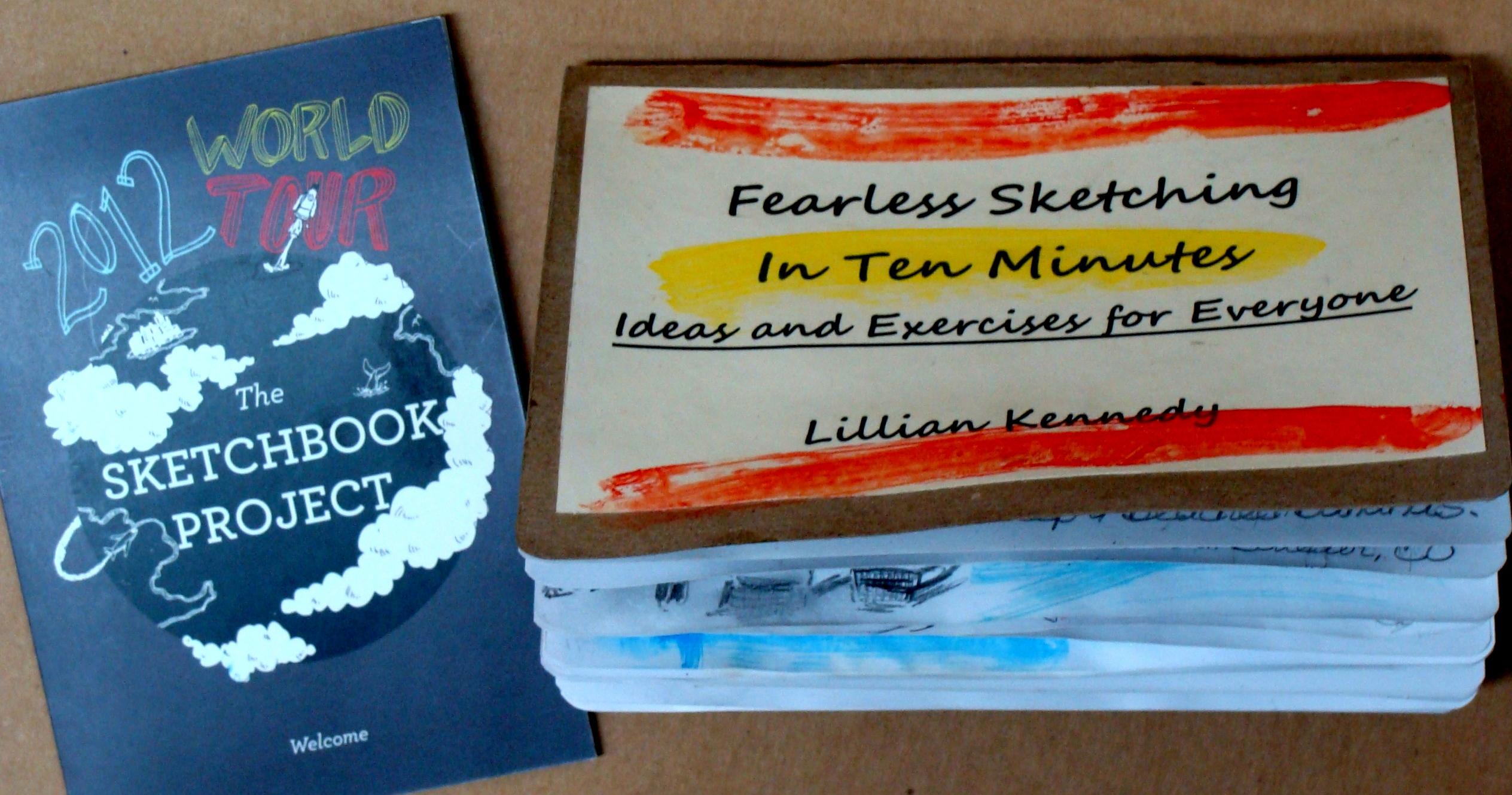 Lillian Kennedy, sketchbook project, In Ten Minutes