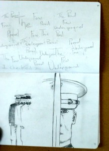 "Tisha Wood, sketchbook project, ""Underground"""