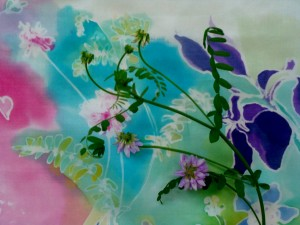 how to - silk painting, Lillian Kennedy, weekly art lesson
