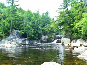 The Flume waterfall, Ausable River, Adirondacks