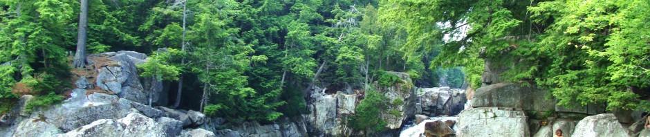 The Flume waterfall, Ausable River, Adirondacks