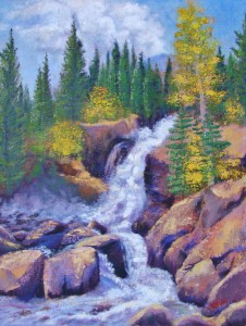 Margaret Bobb - acrylic - Alberta Falls