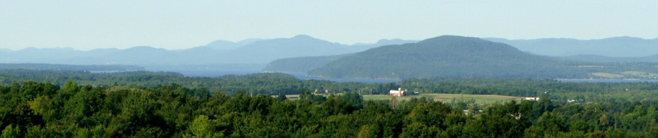View of Lake Champlain and the Adirondacks from Charlotte, VT, Lillian Kennedy