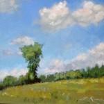 Lillian Kennedy, acrylic 8 x 10, plein air, Jericho Vt.