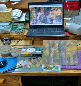 tips: painting from computer monitor, Lillian Kennedy, art lesson