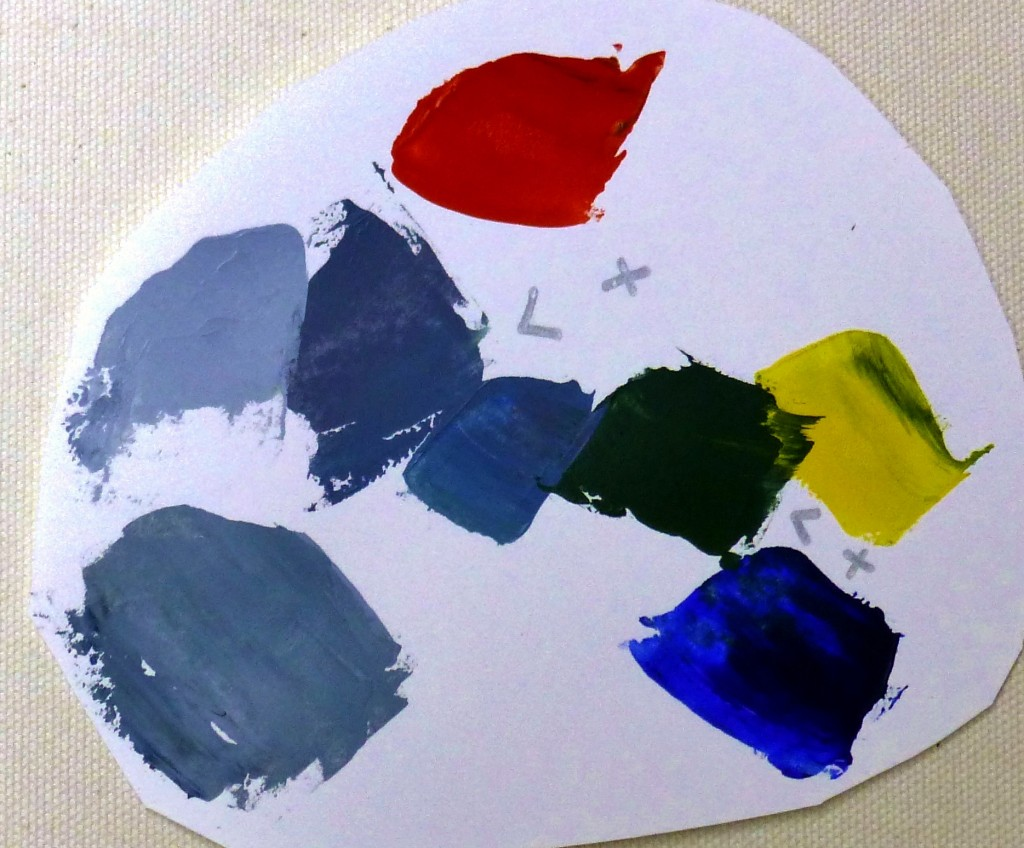 Complementary colors red and green make gray when mixed - Colors complementary to gray ...