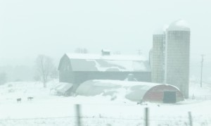 Vermont barn in snow, Lillian Kennedy photo