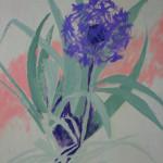 Margaret Bobb - acrylic, Alium, stage #1