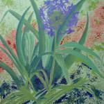 Margaret Bobb - acrylic, Alium, stage #2