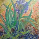 Margaret Bobb - acrylic, Alium, stage #3