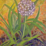 Margaret Bobb - acrylic, flower stage