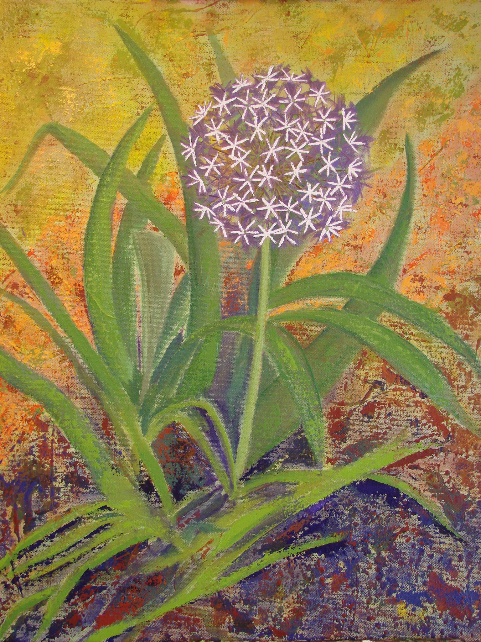 Margaret Bobb – acrylic flower stage