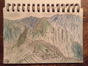 Bob Turner's Machu Picchu drawing